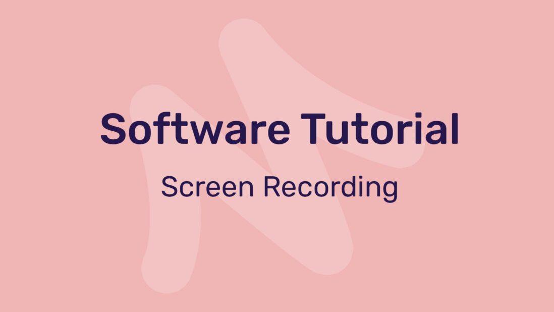 Software tutorial