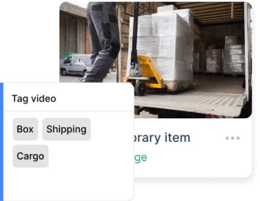 Get organised within your video asset library with tags