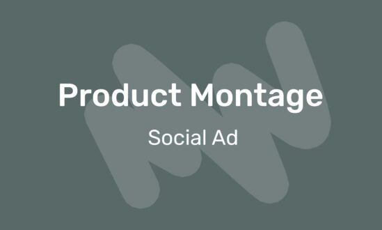 Product montage social ad video template