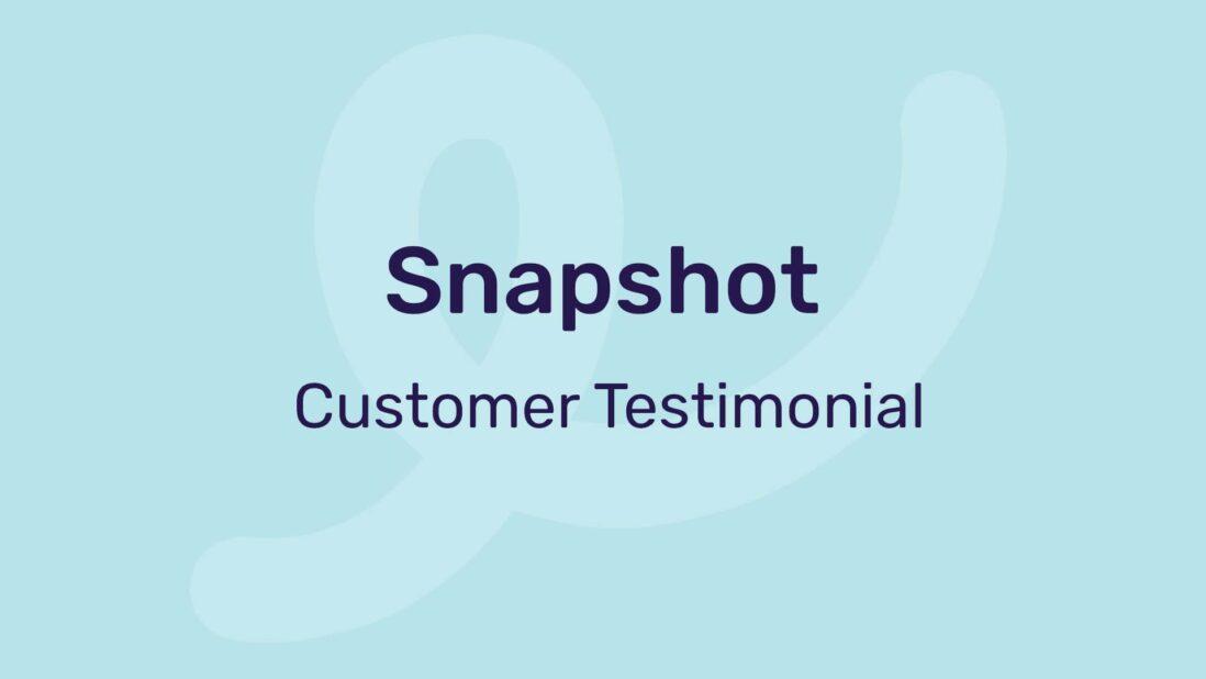 snapshot customer testimonial video template
